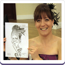 Wedding Caricaturist Entertaining