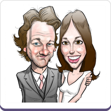 Wedding Caricatures Drawn From Photo