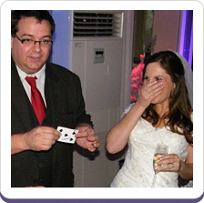 bride entertained by Buckinghamshire magician