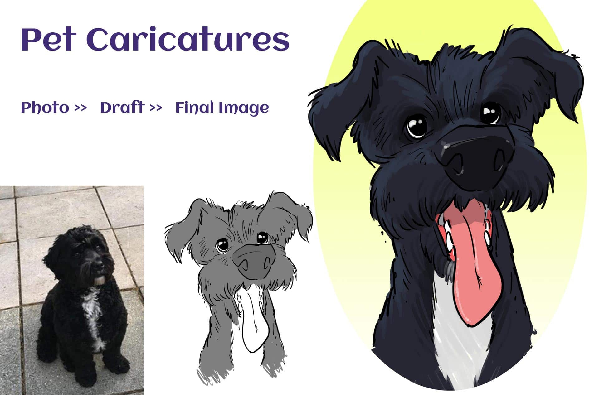 Pet Caricatures from photos
